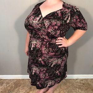 Lane Bryant Plus Size Faux Wrap Dress
